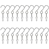 Kesote 20 Mousqueton Porte clé Pivotants en Acier lisse rotatifs pivotant Crochets Clips pour suspension Vent Spinners Rotation spirale Queue Cristal Twisters Article de fête