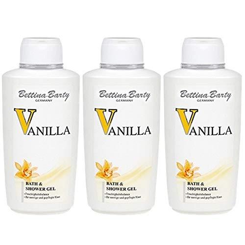Bettina Barty Vanilla Bath & Shower Gel, 3 x 500 ml