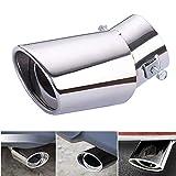 Tubo di scarico marmitta universale in acciaio inox 1Pcs Tubo di scarico dritto o tubo di scarico curvo Tubo di tubi adatto - Diametro tubo da 1,56 a 2,75 pollici (5-7 cm)