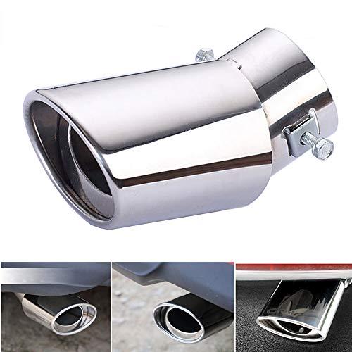 1 piezas Tubo de escape de la cola del escape del coche de acero inoxidable universal Tubo de escape recto o tubo de escape curvo Tubos aptos - Tubo de ajuste Diámetro 1.96 a 2.75 pulg.