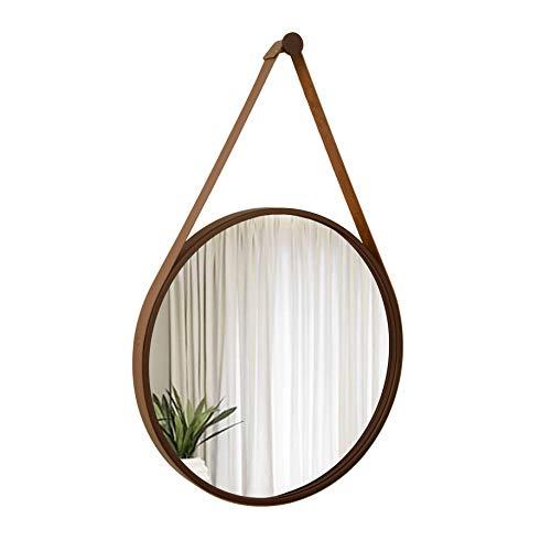 Espelho Adnet Corten com Alça Caramelo - 50 cm
