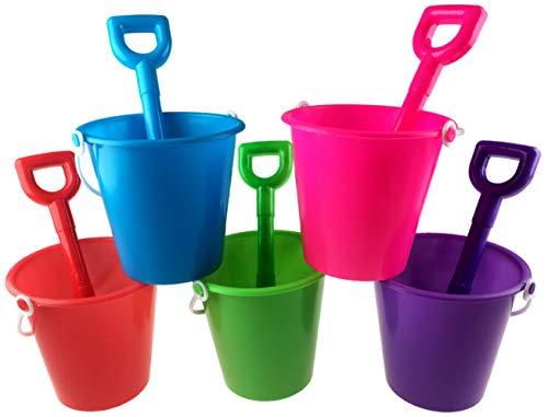 Blue Whale Gifts 5 x Beach Buckets And 5 x Spades - Bulk Buy Value