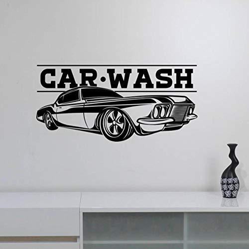 Wandaufkleber Wandbilder Abziehbilder Autowaschschild Fahrzeugreparaturservice Logo Wandtattoo Automotive Clean Decorations Garage Decor Wandbild 119X57cm