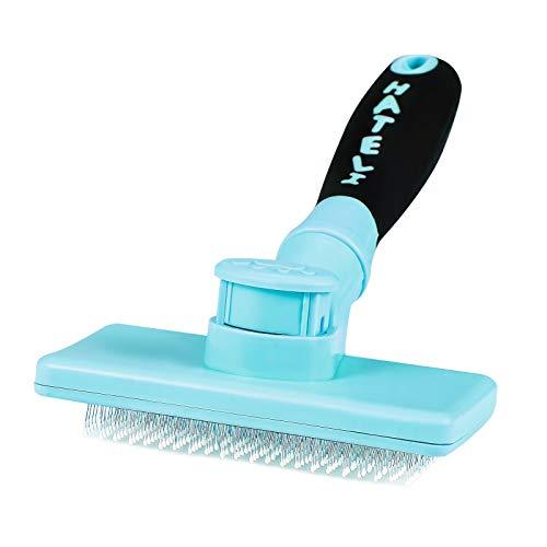 HATELI Self Cleaning Slicker Brush for Cat & Dog -...