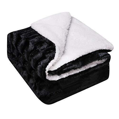 Decke verdicken Doppeldecke Sehr weiches warmes Bett Sofa Wollbezug Decke Bett Sofa Office Apestry 152X127Cm 3