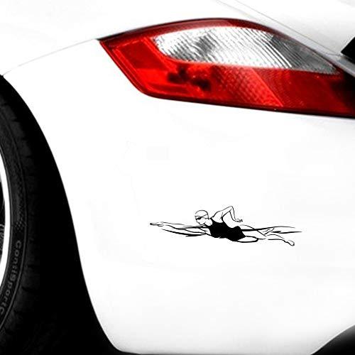 vw aufkleber auto 17,3 cm x 4,5 cm Mode Schwimmer Sport Decor Auto Aufkleber für Auto Laptop Fenster Aufkleber
