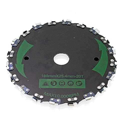Bituxx Cabezal de corte de cadena para desbrozadora, 178 mm
