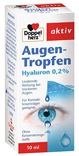 Doppelherz Augen-Tropfen Hyaluron 0,2%, bei trockenen Augen, 3 x 10ml