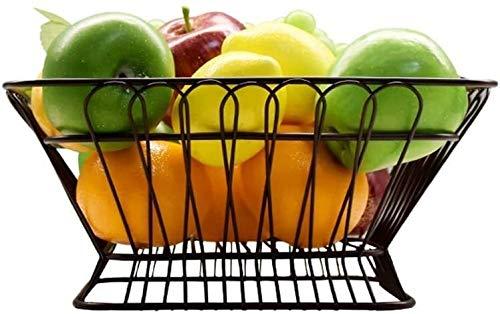 Soporte Para Tartas Bandeja de Pastel Plato De Frutas Hierro Forjado Fruta Vegetal Vino Decorativo Bowl Cesta De Frutas Inicio Del Soporte De Exhibición De La Placa Cuadrado Hueco De Frutas Multifunci