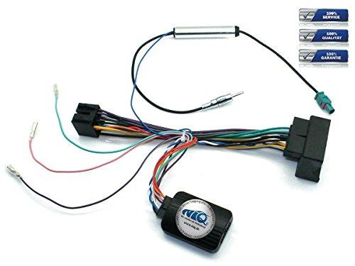 NIQ CAN-BUS Lenkradfernbedienungsadapter inklusive FAKRA Antennen-Anschluss, geeignet für SONY Autoradios, kompatibel mit Seat Altea / Ibiza / Leon / Toledo