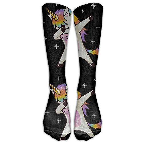 YuanHu Unicorn Cute Dabbing Funny Dab Dance Geschenk Erwachsene Sport Calf Long Team Socks