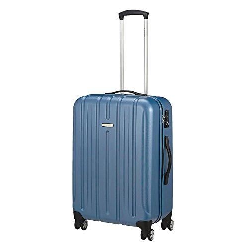 trolley Roncato kinetic medio colore artico in policarbonato chiusura tsa- 4 ruote - peso- mis 65x44x27 peso 3,5 kg