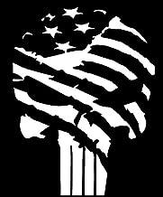 Keen American Flag Punisher Vinyl Decal Sticker|Car Truck Van Wall Laptop|White|5.5 in|KCD678