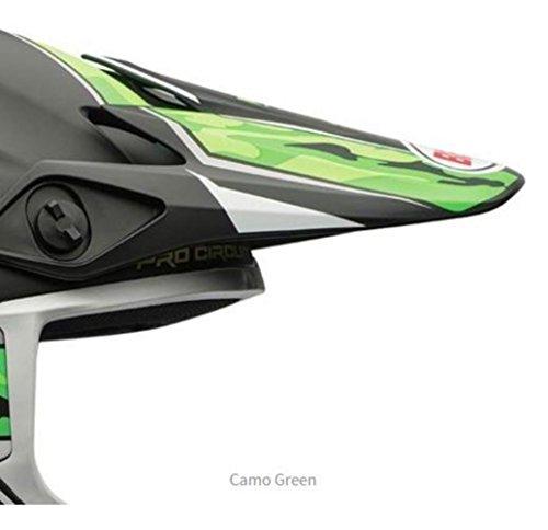 BELL MX-9 - Casco da motocross MX di ricambio, colore: Verde mimetico