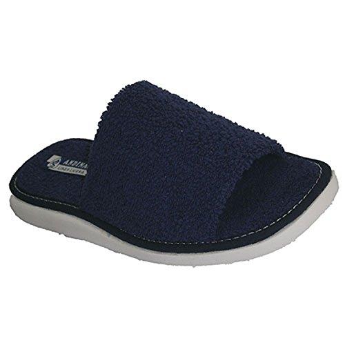 Chancla toalla de puntera abierta toalla Andinas en azul marino talla 38
