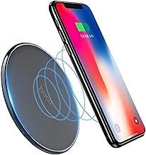 ARVAS ワイヤレス 充電器 10W/7.5W急速充電対応 Qi 超薄型 ワイヤレスチャージャー 置くだけ充電 充電パッド Qi認証済み 無線 軽量 ワイヤレスチャージャー 呼吸ランプ付き パッド スマホを 置くだけ充電 Qi認証済みiPhone XS/XS Max/XR/X / 8 / 8 Plus、Galaxy S10 / S10+ / S9 / S9+、その他Qi対応機種 各種対応(ブラック)