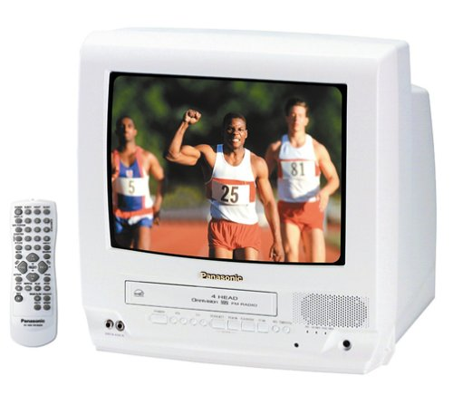 Panasonic PV-C1353W 13-Inch TV/VCR Combo , White