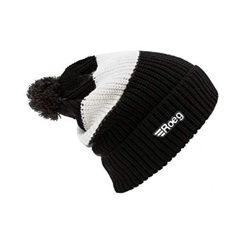 Muts wintermuts Roeg Averell Pom Knit Beanies zwart wit zwart wit