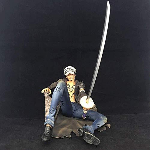 JINFENFG One Piece Battle Edition Trafalgarro Pop Battle Damaged Sitting Doll Modelo en Caja Decoración de paisajes Juguetes