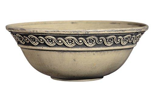 Classic Home and Garden Corinthian Bowl 12 Planter, Ivory Ash