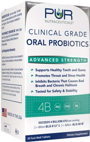 Clinical Grade Oral Probiotics * 4 Billion CFUs of BLIS K12® & BLIS M18® * Sugar Free * Natural Peppermint Flavoring * 100% Made in The USA * Eliminates Bad Breath/Halitosis