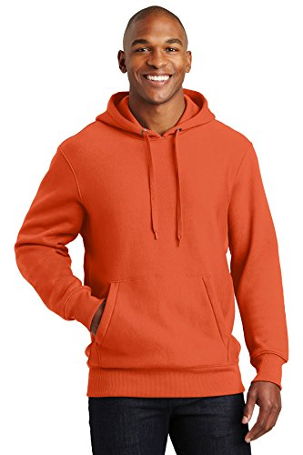 SPORT-TEK Men's Super Heavyweight Pullover Hooded Sweatshirt 4XL Orange