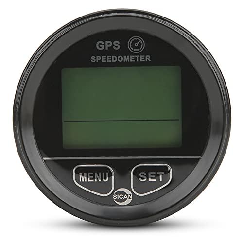 Changor Odómetro Impermeable, Calibre de velocímetro Función de Reloj GPS Velocímetro Función Indicador de Voltaje Función con ABS para Aplicaciones Marinas de Motocicleta