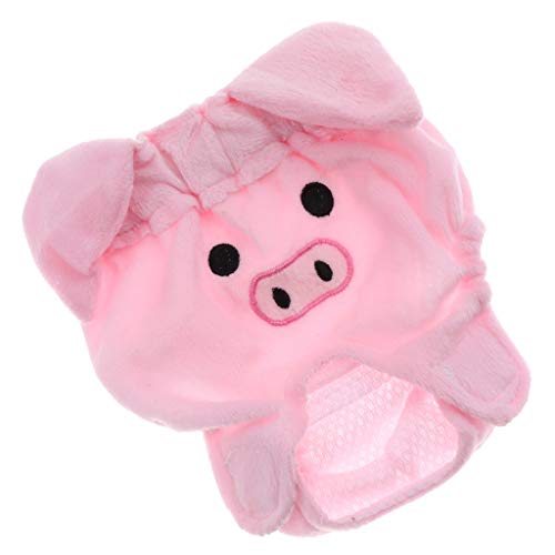 FLAMEER Läufigkeitshöschen Hündin Hygienehose Schutzhose Schutzhöschen Sanitär Windel Unterwäsche für weibliche Hunde - Schwein