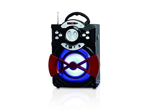 Conceptronic CSPKBTBASSPARTY 20 W Negro, Rojo - Altavoces portátiles (20 W, 100-20000...