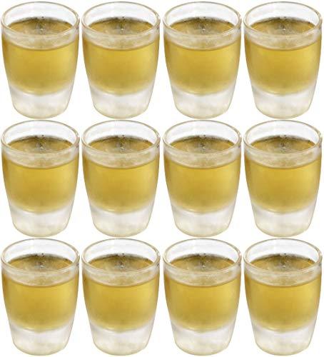 12 x bruchfestes Schnapsglas ca. 25 ml (Eichstrich bei 2 cl), Stamperl, Pinnchen, Gläser Set aus hochwertigem Kunststoff (Polycarbonat), edle Gläser für Camping, Partys (wie echtes Glas)