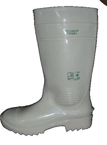 Mavinsa weiße Gummistiefel mit Stahlkappe EN 345 S4 Metzgerstiefel Größe 36 bis 48 (44)