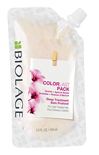 BIOLAGE ColorLast Deep Treatment Pack | Mutli-Use Hair Mask | Vegan & Paraben-Free | For Color Treated Hair | 3.4 Fl. Oz.
