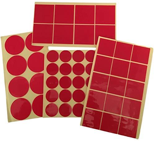 Dubbelzijdig plakband vlakken - sterk hechtende acryl kleefpads - dubbelzijdige kleefstukken 1mm kleeflaag - verwijderbaar zonder resten - 30mm 50 mm hoeveelheid/grootte kan worden geselecteerd 24x 50mm Kreis transparant