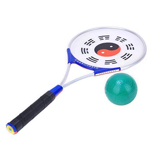 Raqueta de Pelota de Tai Chi de 310 g, con Raqueta de Ejercicio Suave de Pelota, para Fitness, niños Adultos, diversión en Interiores y Exteriores, Tai Chi, Ejercicio para Ancianos(Soft Power Racket)