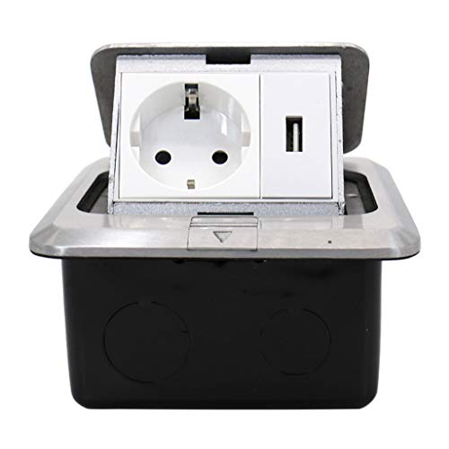 BIlinli 16A 125V Pop Up Floor Power Outlet Estándar de la UE Rusia España Enchufe Carga USB
