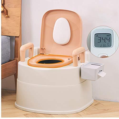 WANXJM Inodoros para Ancianos, Inodoros Extraíbles para Adultos, Taburetes De Inodoro Domésticos para Mujeres Embarazadas, Inodoros De Escupidera para Interiores