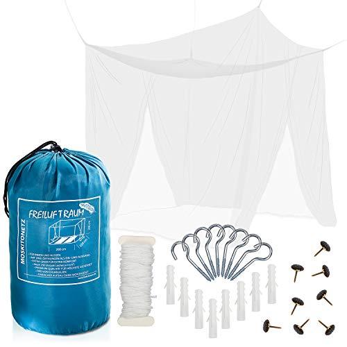 FREILUFTRAUM Moustiquaire | Ciel de lit | Protection Anti moustiques | Anti Mouche | Baldaquin pour lit 2 Places 200 x 220 x 200 cm