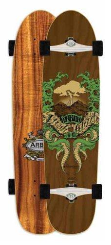 Arbor Shakedown Koa Skateboard Completes, 38 x 9.25 x 20-Inch