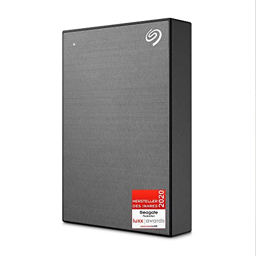 Seagate One Touch tragbare externe Festplatte 5 TB, PC, Laptop & Mac, USB 3.0, Space Grau, inkl. 2 Jahre Rescue Service, Modellnr.: STKC5000404