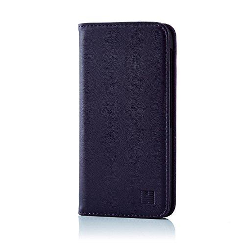 32nd Klassische Series - Lederhülle Case Cover für BlackBerry DTEK60, Echtleder Hülle Entwurf gemacht Mit Kartensteckplatz, Magnetisch & Standfuß - Aubergine