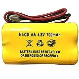 BL93NC487 AA500MAH Unitech AA 700mAh Ni-CD AA600mAh McNair Corun Ni-Cd AA500 4.8v 700mAh Ni-CD Battery Pack Replacement for Emergency/Exit Light Sign Batteryhawk, LLC