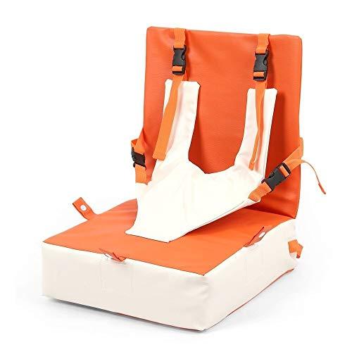 Silla portátil para bebés, cojín elevador de cuero para niños, asiento de seguridad para niños, asiento de seguridad plegable