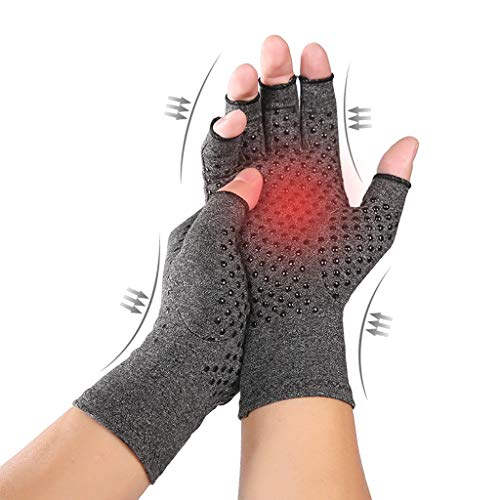 Fine Arthritis Gloves,Compression for Arthritis Pain Relief Rheumatoid Osteoarthritis and Carpal...