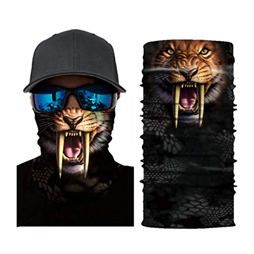 Nahtlose Bandanas Gesicht Maske Stirnband 3D Tiere Maske Kann Als Staubschutz,Sturmhaube,Piratenkappe,Bandana,Helmliner Verwendet Werden.