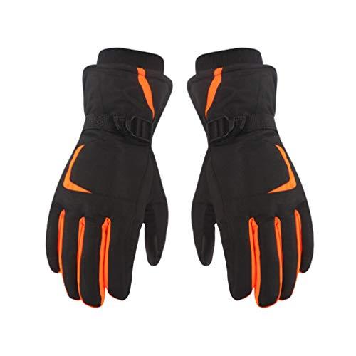 BESPORTBLE 1 Paar Unisex-Skihandschuhe Wasserdicht Winter Warme Handschuhe Touchscreen-Handschuhe Snowboardhandschuhe für Outdoor-Klettersport (Fluoreszierend Orange M Größe)