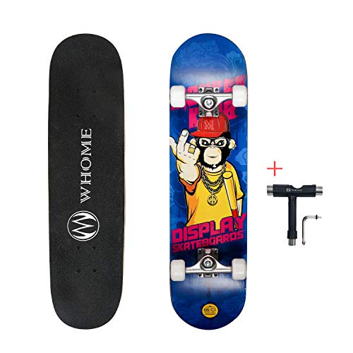 WHOME Pro Skateboard Complete for Adult Youth Kid and Beginner