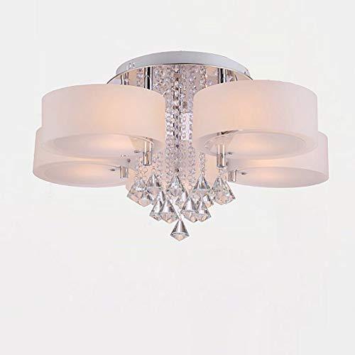 YANQING Duurzame plafondlampen Moderne LED Acryl Plafond Lamp, RVS Plafond Lamp voor Slaapkamer Studie Kamer Woonkamer, Creatieve Plafondverlichting Kroonluchter Plafond Lampen, Kleur:65 * 32cm