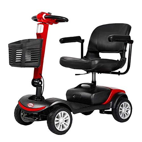 TWL LTD-Wheelchairs Älterer Roller-Elektrischer Vierrolliger Elektrischer Rollstuhl, Der Älteren Vierrolligen Elektrischen Roller-Erwachsenen Rollstuhl Faltet