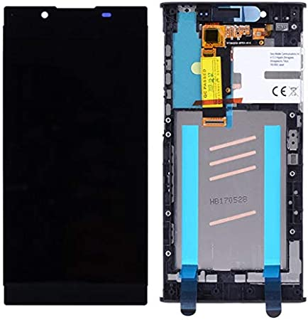 Color : Silver XIAOMIN LCD Screen and Digitizer Full Assembly with Frame for Sony Xperia L1 G3311 G3312 G3313 Replacement Part Replacement Black