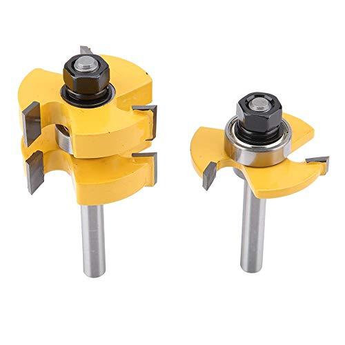 2 uds. 8 mm Punta del router con vástago marco de madera puerta del suelo guía y punta del router en carburo cementado estilo para la elaboración de la madera profesional